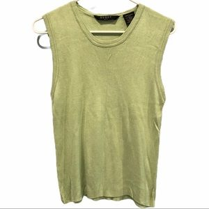 Green Guess golf tank top size large